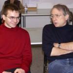 Ebenfalls Erster: Norbert Sprotte (hier rechts im Bild mit Atila G. Figura, 2008)