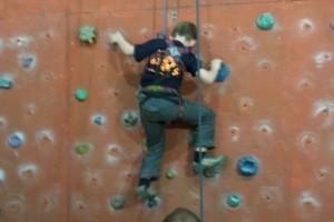Benett Schnabel beim Klettern!
