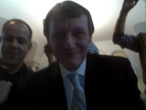 Auch Ingo Lange kam in die Webcam.