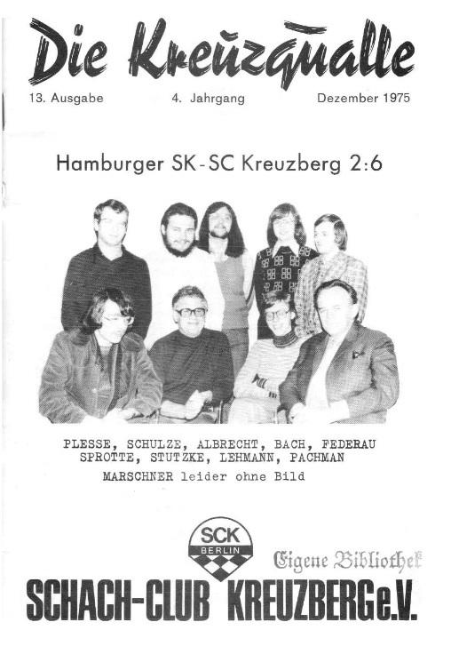 Kreuzqualle Dezember 1975