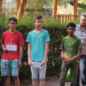 Nun kam die Jugend mit Jirawat Wierzbicki, Jonas Roseneck und Madhan Barath...
