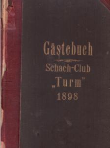 Einband Gästebuch SK Turm 1898
